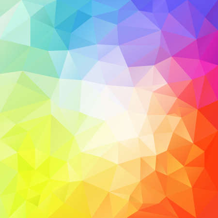 vector abstract irregular polygon background with a triangle pattern in light pastel full color spectrum with reflection in the middle Illustration