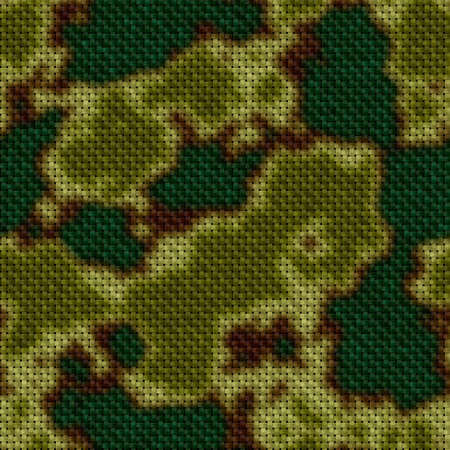 military mask seamless pattern texture background - woven fabric - khaki, green and brown colors