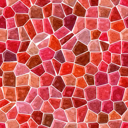 surface floor marble mosaic pattern seamless background with white grout - red, pink, burgundy and brown color