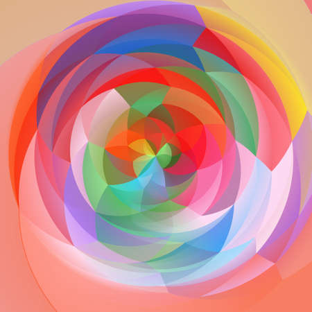 cubismo: abstract modern art geometric swirl background - pastel full spectrum colored