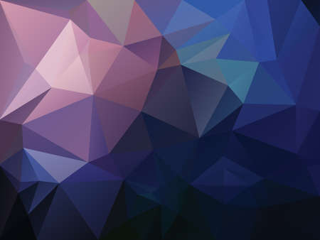 vector abstract irregular polygon background with a triangle pattern in dark blue, purple, pink and sapphire color