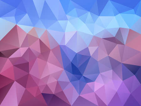 vector abstract irregular polygon background with a triangle pattern in llight lavender purple, violet, pink and sky blue color