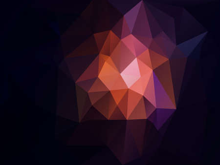 vector abstract irregular polygon background with a triangle pattern in dark blue, purple, pink and orange color   Illustration