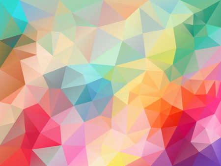 vector abstract irregular polygon background with a triangle pattern spring fresh colorful spectrum