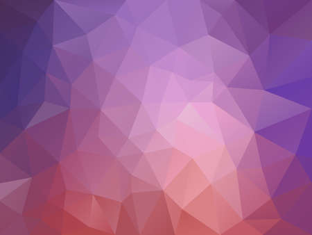 vector abstract irregular polygon background with a triangle pattern in old pink and lavender purple gradient color Illustration