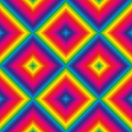 Vector abstract rhombus seamless background - full color spectrum rainbow.