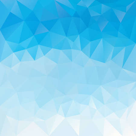 Vector abstract irregular polygon background with a triangle pattern in sky blue gradient color.