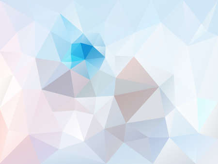 vector abstract irregular polygon background with a triangle pattern in light ice blue, pink, purple and gray color