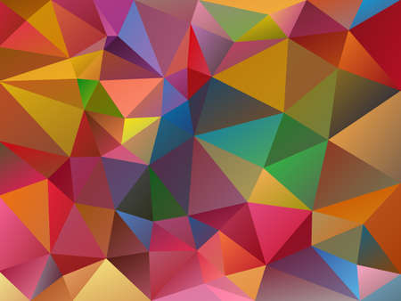 vector abstract irregular polygon variegated background with a triangle pattern in full color spectrum  Illustration
