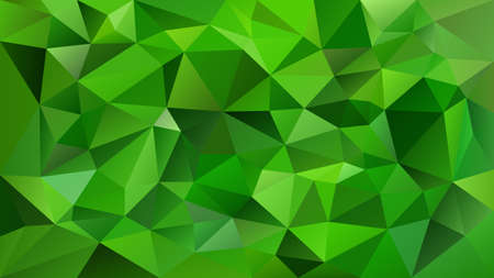 Vector abstract irregular polygonal square background - triangle low poly pattern - vibrant emerald green color