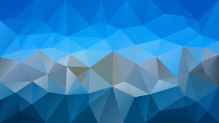Vector  abstract irregular polygonal background - triangle low poly pattern - light sky and dark gray color