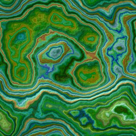 大理石アゲートストーニーシームレスなパターンテクスチャの背景 - 緑、青、シアンとカーキ色 - 粗い表面 写真素材