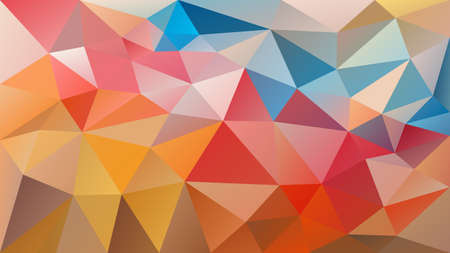 Vector abstract irregular polygonal background - triangle low poly pattern - multi color - happy variegated.