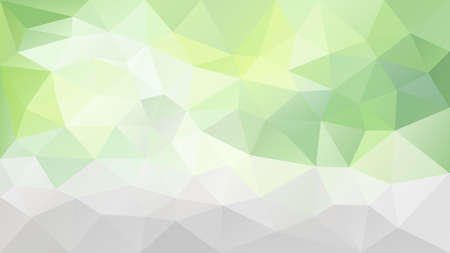 Vector abstract irregular polygonal background - triangle low poly pattern - light lime green, gray and white color.