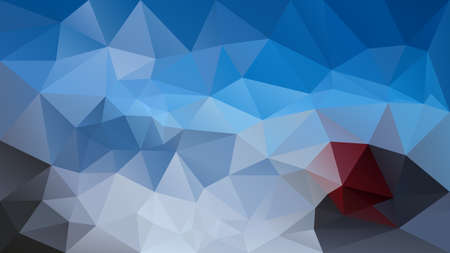 Vector abstract irregular polygonal background - triangle low poly pattern - vibrant sky blue, burgundy red and light and dark gray color.