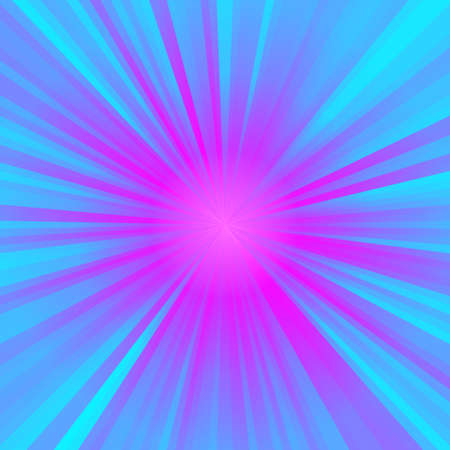 neon holographic star with blue and pink rays - pattern texture background