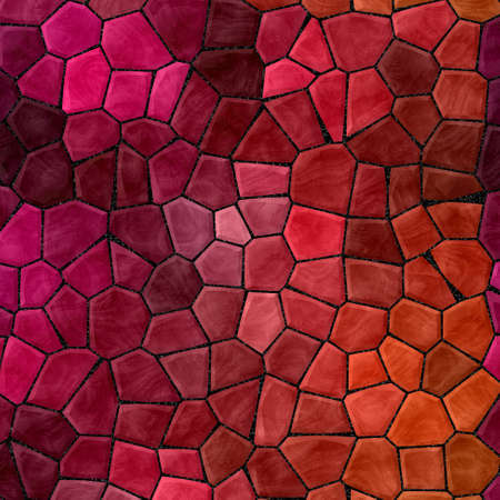 abstract nature marble plastic stony mosaic tiles texture background with black grout - vivid red pink purple orange colors  版權商用圖片