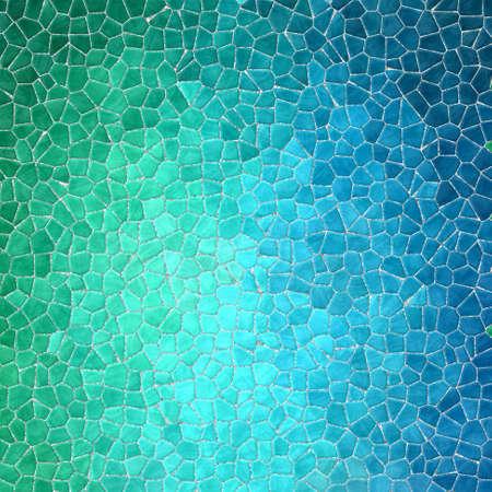 abstract natuur marmer plastic steenachtige mozaïek tegels textuur achtergrond met grijze grout - groen cyaan blauw kleurverloop