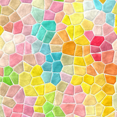 Pastel colored texture background for use in marble, plastic, stony and mosaic tiles with white grout.