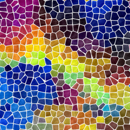abstract nature marble plastic stony mosaic tiles texture background with white grout - full color spectrum 版權商用圖片