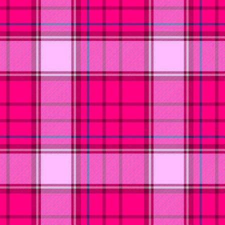 check diamond tartan plaid scotch fabric seamless pattern texture background - hot pink color