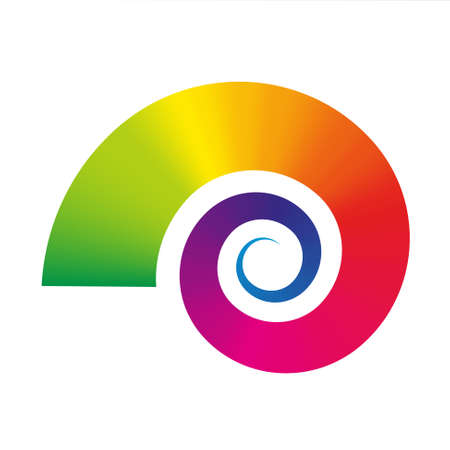 Vector snail icon - graphic flexible symbol - rainbow gradient colored - snail Illustration