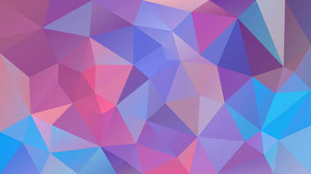 Vector abstract irregular polygonal background - triangle low poly pattern - cute baby pink, blue, purple and violet color Ilustração
