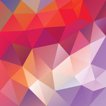 Vector abstract irregular polygonal background. Cute pink orange and purple violet color 일러스트