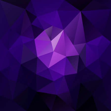 Vector abstract irregular polygonal square background - triangle low poly pattern - dark blue, purple, ultra violet and lavender color. Illustration