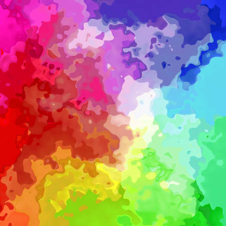 abstract stained pattern texture background full color spectrum - modern painting art - watercolor effect Stock Photo