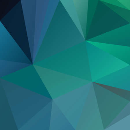Vector abstract irregular polygonal square background - triangle low poly pattern - blue, green, turquoise, cerulean, aqua, and teal color