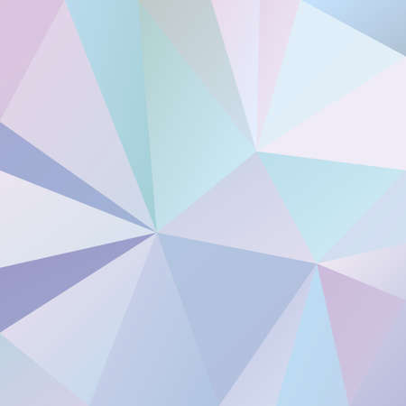 vector abstract irregular polygonal square background - triangle low poly pattern - cool light blue, pink, purple and violet color