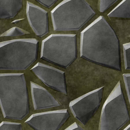 surface floor marble mosaic pattern seamless background with khaki grout - gray color