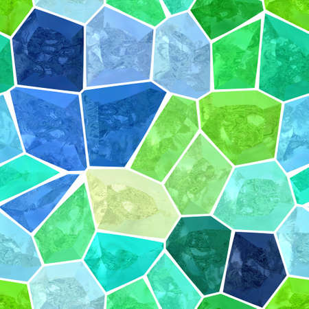surface floor marble mosaic pattern seamless background with white grout - highlight blue green color