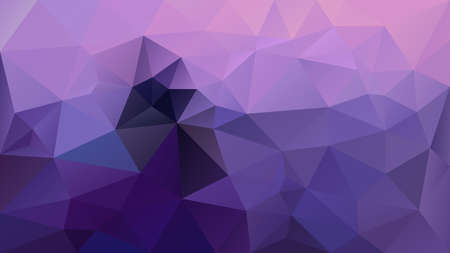 Abstract vector irregular polygonal background, triangle low poly pattern. Ultra violet and lavender purple color.