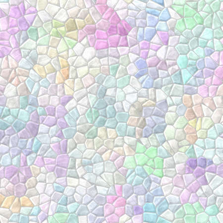 abstract nature marble plastic stony mosaic tiles texture background with gray grout - light pastel rainbow full color spectrum   Reklamní fotografie