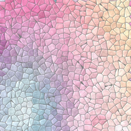 Abstract nature marble plastic stony mosaic tiles texture background with gray grout - light pastel full color spectrum Reklamní fotografie