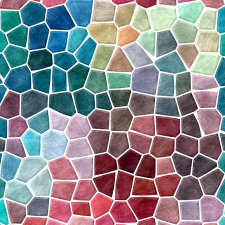 abstract nature marble plastic stony mosaic tiles texture background with white grout - multi color spectrum - variegated