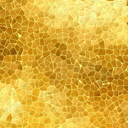 abstract nature marble plastic stony mosaic tiles texture background with yellow grout - gold colors