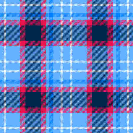 check diamond tartan plaid scotch fabric seamless pattern texture background - pastel baby blue, hot pink and white color