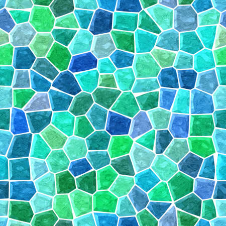 surface floor marble mosaic pattern seamless background with white grout - vivid blue green color