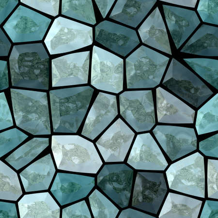 surface floor marble mosaic pattern seamless background with black grout - blue green gray color  版權商用圖片