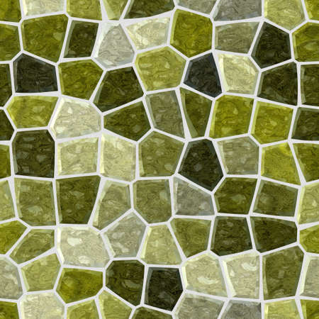 surface floor marble mosaic pattern seamless background with white grout - khaki green gray color