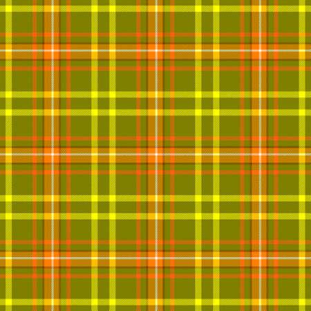 check diamond tartan plaid scotch fabric seamless pattern texture background - khaki green, yellow, orange and white color