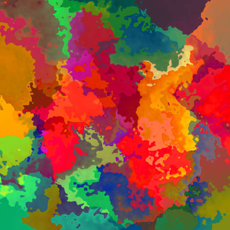 abstract stained pattern texture background vibrant variegated colors - modern painting art - watercolor effect