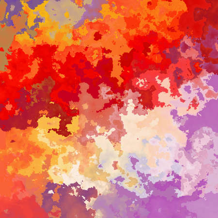 abstract stained pattern texture background vibrant variegated red, orange, purple, pink and violet colors - modern painting art - watercolor effect Stok Fotoğraf