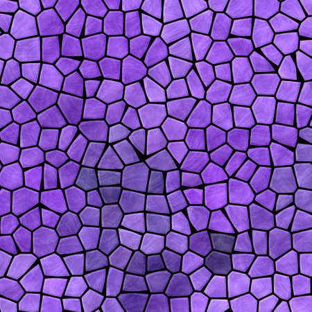 abstract nature marble plastic stony mosaic tiles texture background with black grout - lavender purple and violet colors