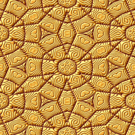 Gold seamless pattern texture geometric background