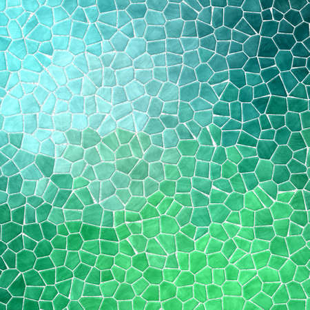 abstract nature marble plastic stony mosaic tiles texture background with white grout - neon blue green colors 版權商用圖片