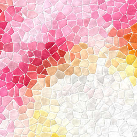 abstract nature marble plastic stony mosaic tiles texture background with white grout - sweet pink, orange, yellow and gray colors 版權商用圖片